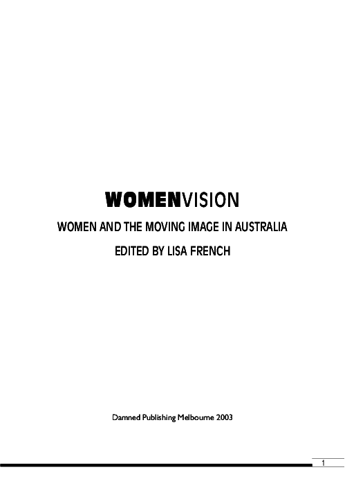 Womenvision Women And The Moving Image In Australia Lisa French