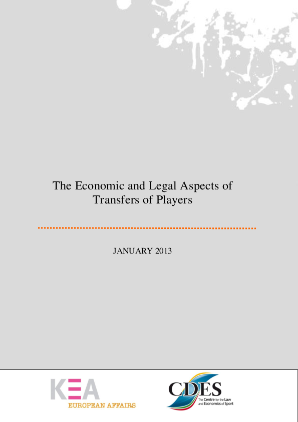 PDF) The Economic and Legal Aspects ofTransfers of Players