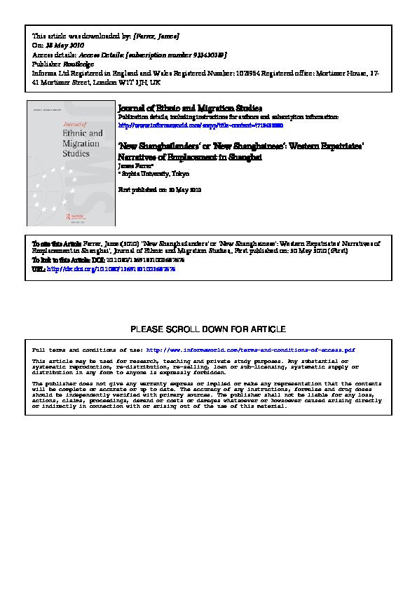 c613066f41c PDF)  New Shanghailanders  or  New Shanghainese   Western ...