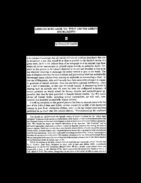 Pdf Libro De Buen Amor 70a What Are The Libro S Instruments Ottavio Dicamillo Academia Edu