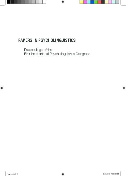 811e125d4 PDF) Papers in Psycholinguistics