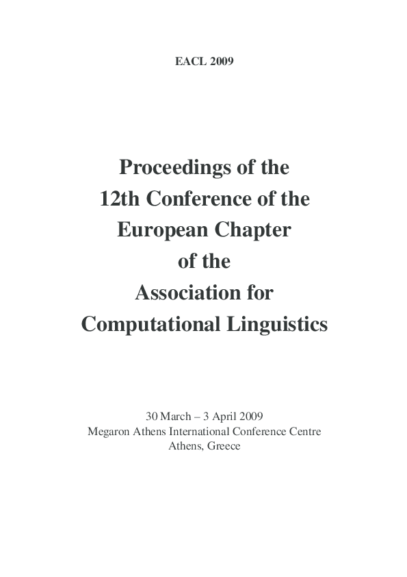 PDF) Proceedings of the 12th Conference of the European