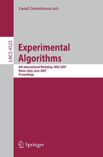 Pdf Experimental Algorithms 6th International Workshop