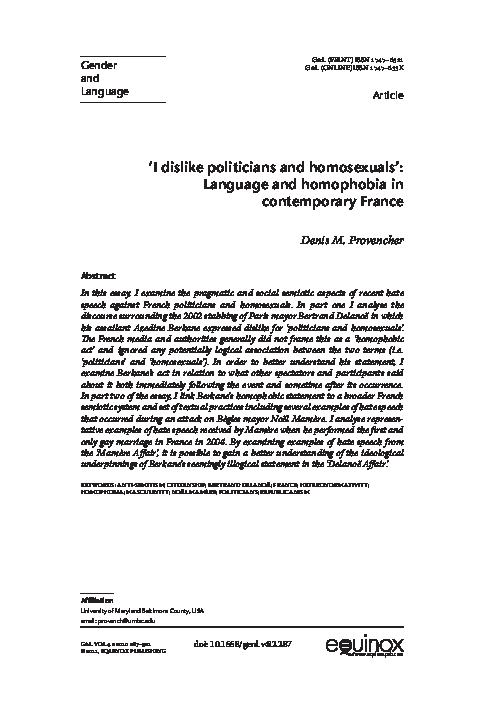 reducere uriașă cel mai iubit noi speciale PDF) 'I Dislike Politicians and Homosexuals': Language and ...