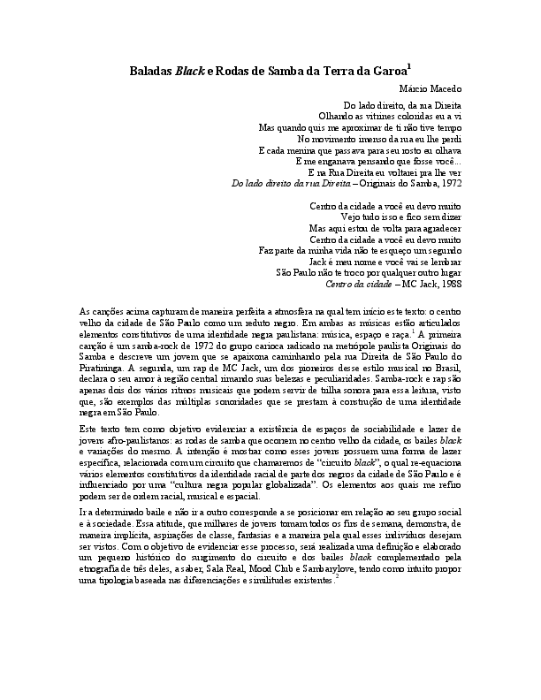 9df724c0700 Baladas Black e Rodas de Samba da Terra da Garoa