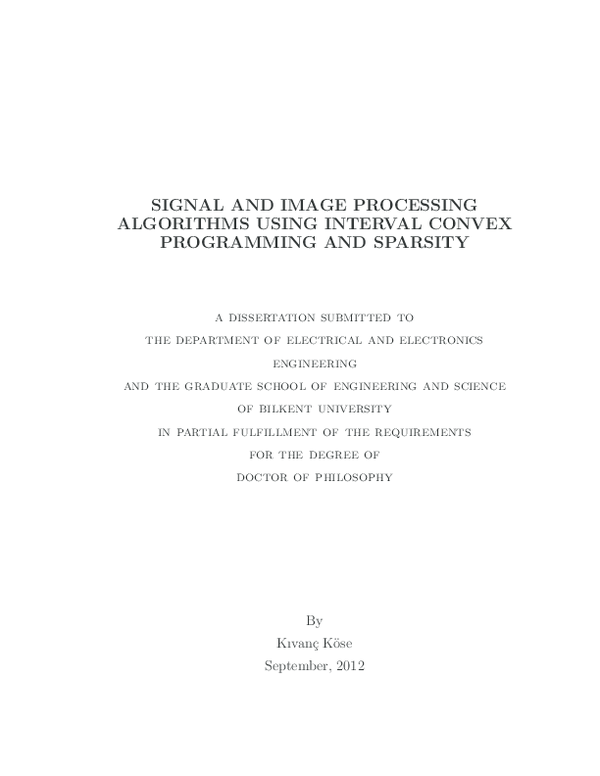 PDF) SIGNAL AND IMAGE PROCESSING ALGORITHMS USING INTERVAL
