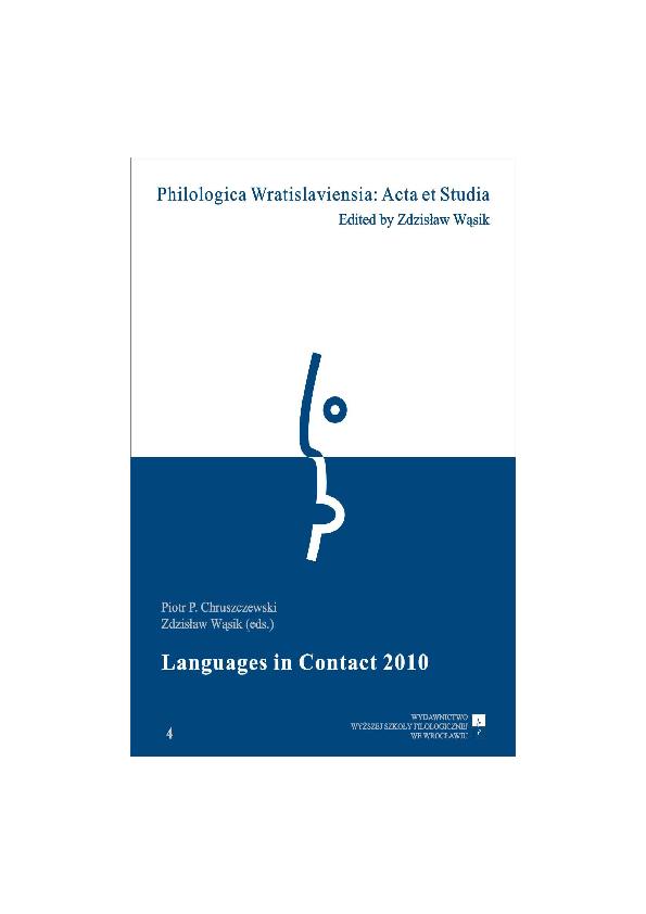 PDF) Piotr P  Chruszczewki, Zdzisław Wąsik (eds ) 2011