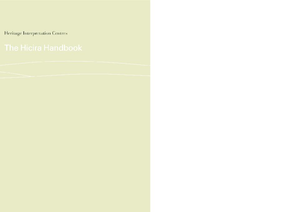 PDF) Heritage Interpretation Centres  The hicira handbook   Pere
