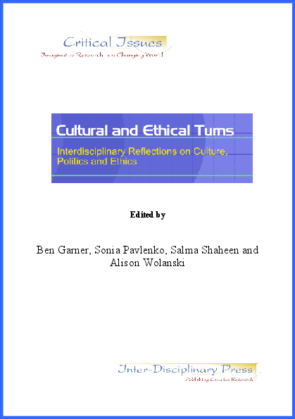 Cultural And Ethical Turns Interdisciplinary Reflections On Culture