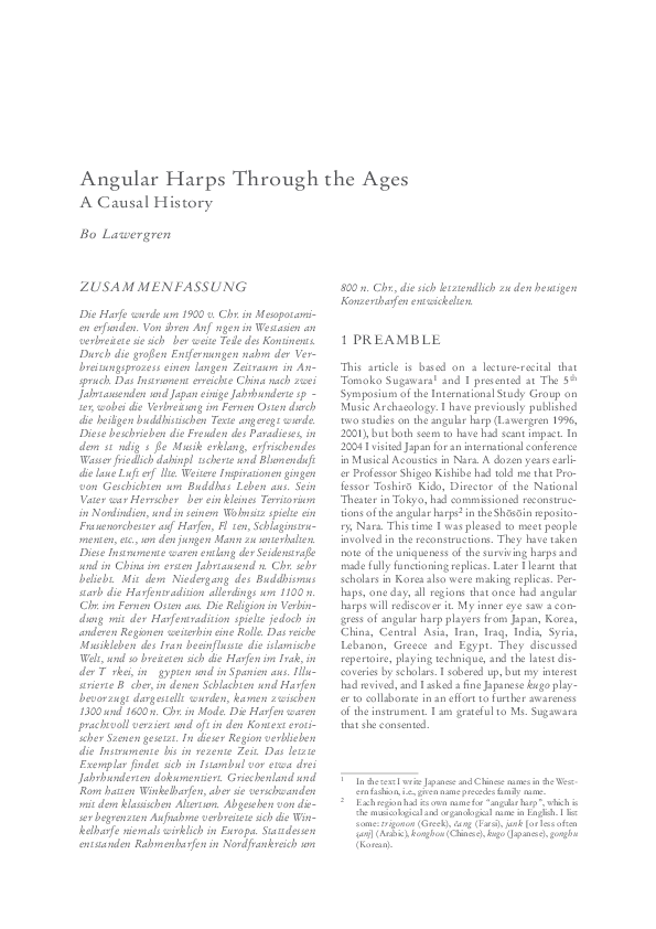 PDF) Angular harps Through the Ages