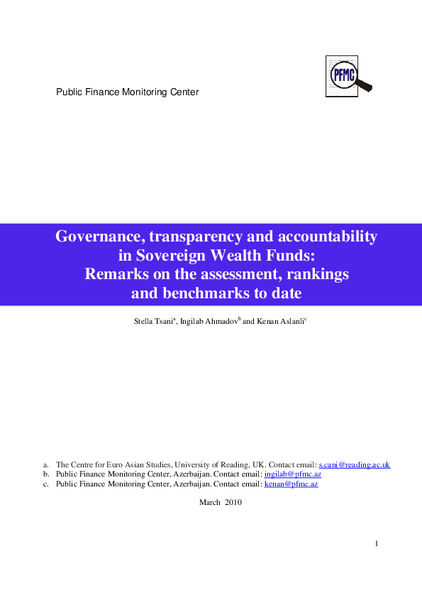 PDF) Governance, transparency and accountability in