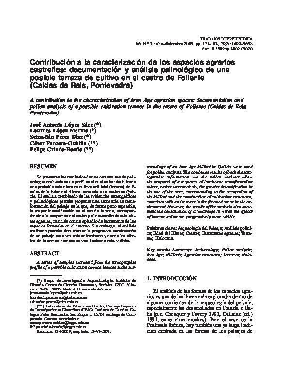 Pdf Contribución A La Caracterización De Los Espacios