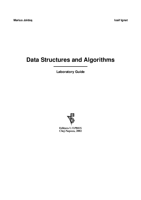 PDF) Data Structures and Algorithms | Marius Joldos - Academia edu