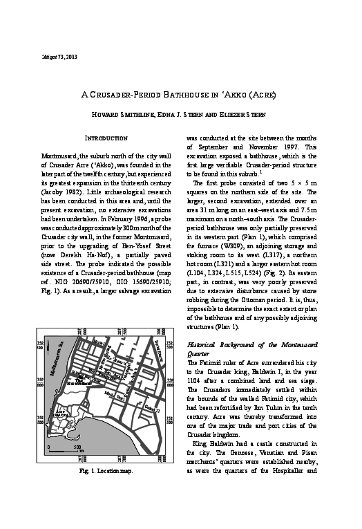 PDF) A Crusader-Period Bathhouse in 'Akko (Acre) | Edna J