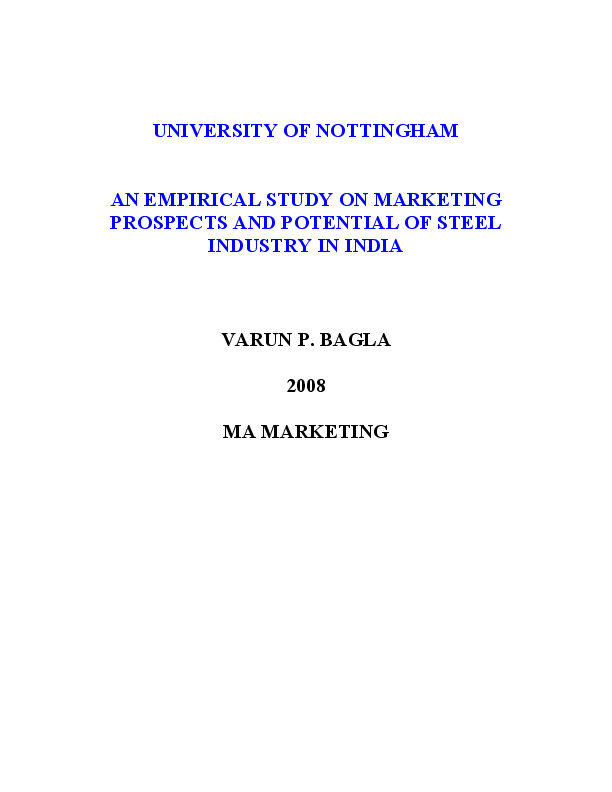 PDF) AN EMPIRICAL STUDY ON MARKETING PROSPECTS AND POTENTIAL