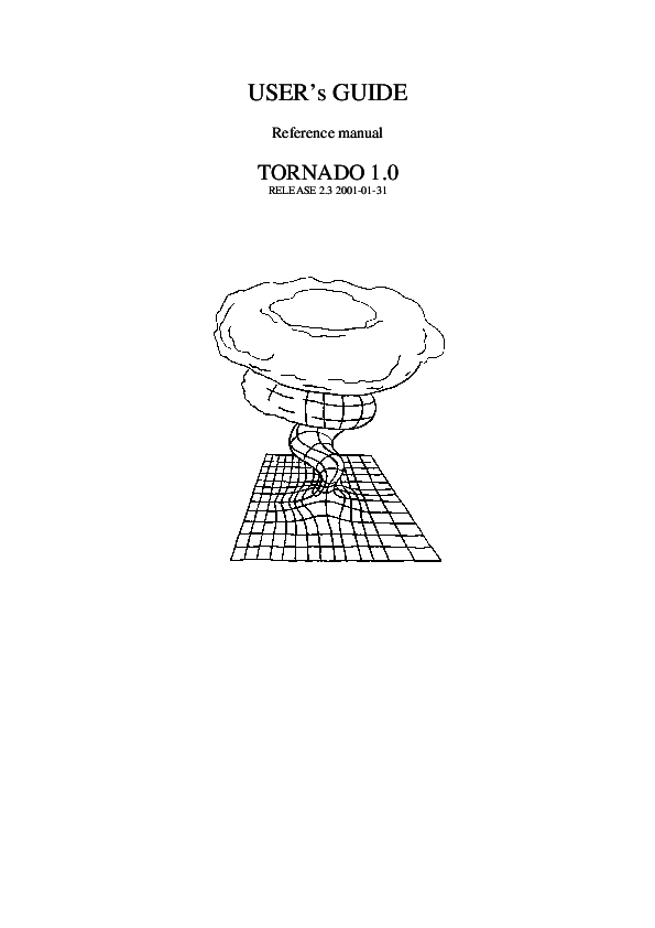 (PDF) User's guide and reference manual for Tornado