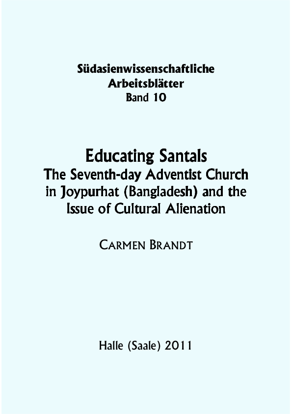 PDF) Educating Santals: The Seventh-day Adventist Church in