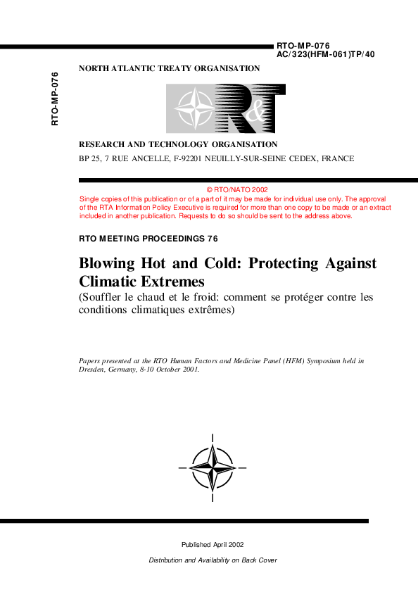 PDF) Blowing Hot and Cold: Protecting Against Climatic Extremes