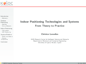 PDF) Indoor Positioning Technologies and Systems From Theory