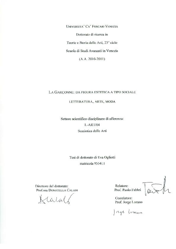 PDF) La Garçonne  da figura estetica a tipo sociale  letteratura ... f1733a29dc8