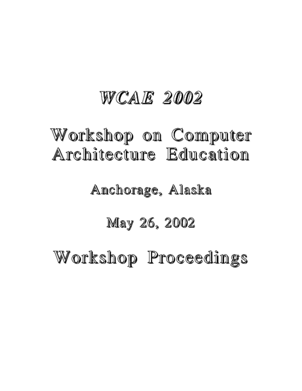 PDF) Web-based training on computer architecture: the case