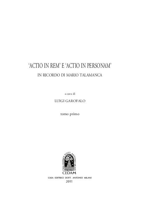 PDF) Il concetto di  actio  alla luce della struttura primitiva del ... 00a9dbb609c6