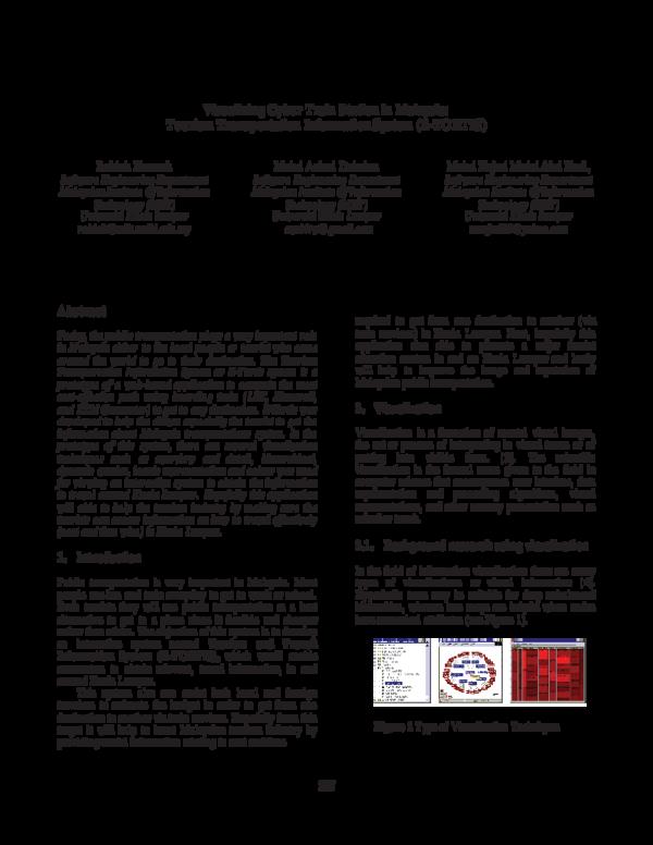 Pdf Visualizing Cyber Train Station In Malaysia Tourism Transportation Information System E Tortis Ahmad Amiruddin Academia Edu