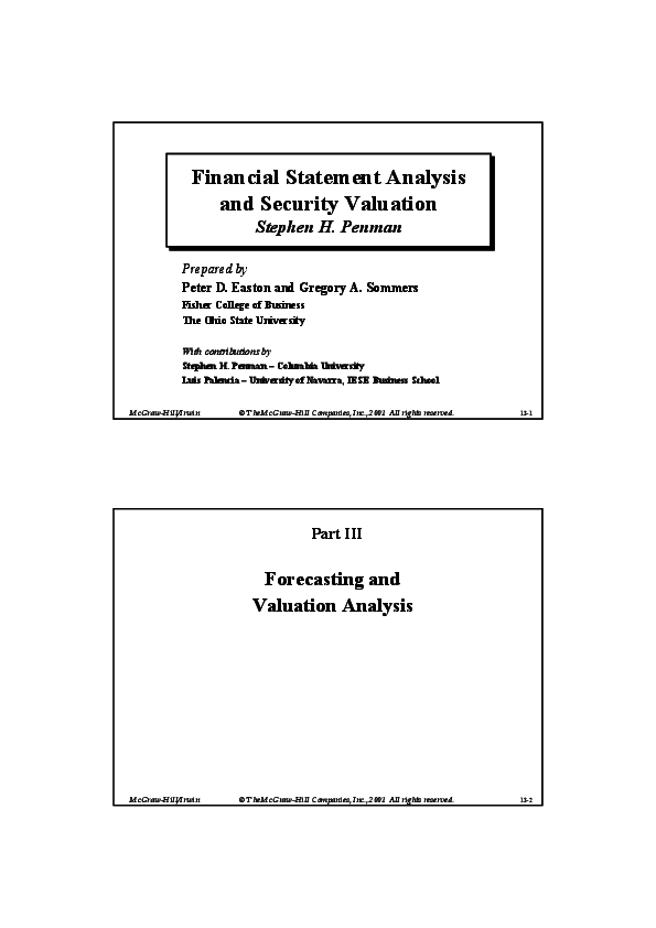 PDF) Financial statement analysis and security valuation | Birutė