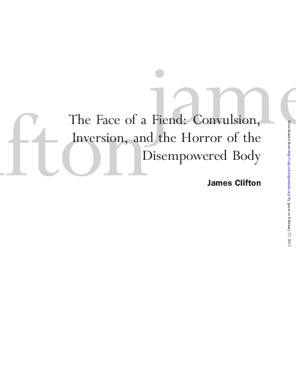 PDF) The Face of a Fiend: Convulsion, Inversion, and the