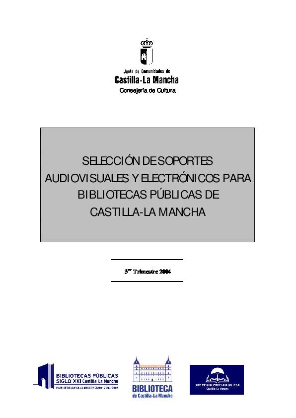 PDF) SELECCIÓN DE SOPORTES AUDIOVISUALES Y ELECTRÓNICOS PARA ... 9be71ebf2ae