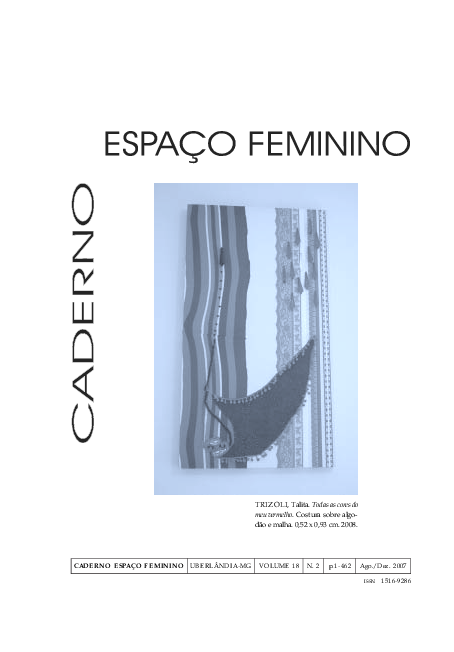 2603c5044 PDF) Caderno Espaço Feminino v. 18 n. 2 | Talita Trizoli - Academia.edu