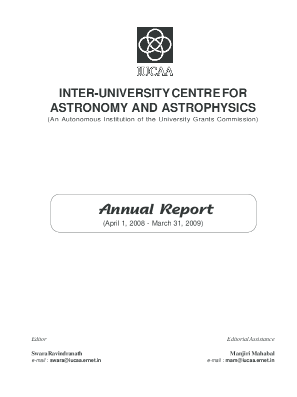 PDF) INTER-UNIVERSITY CENTRE FOR ASTRONOMY AND ASTROPHYSICS