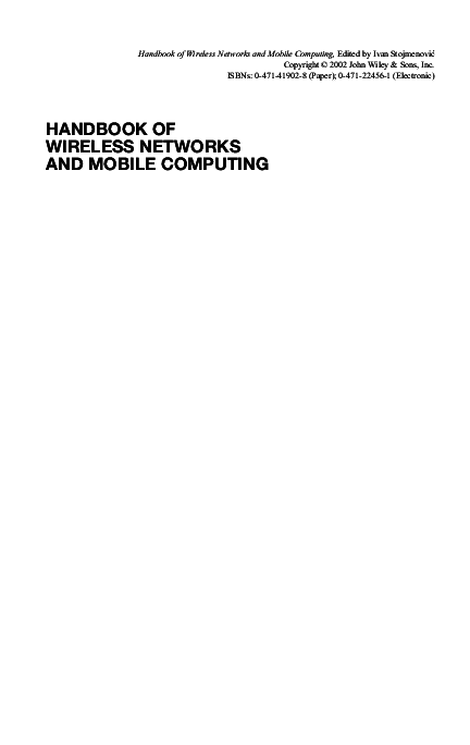 Mobile Ad Hoc Networks By Sivaram Murthy Ebook Download