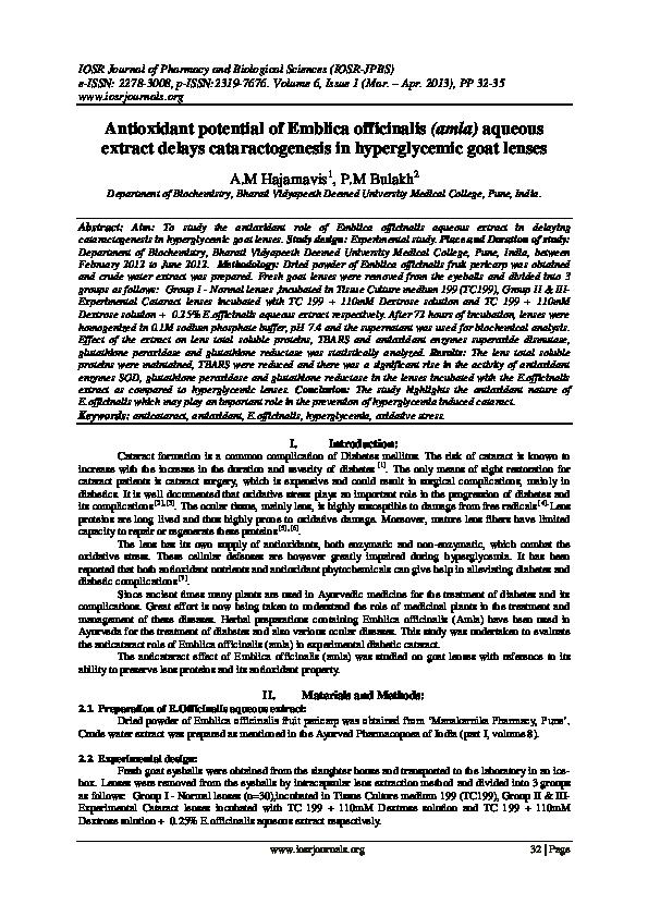 Pdf Iosr Journal Of Pharmacy And Biological Sciences Iosr Journals Academia Edu