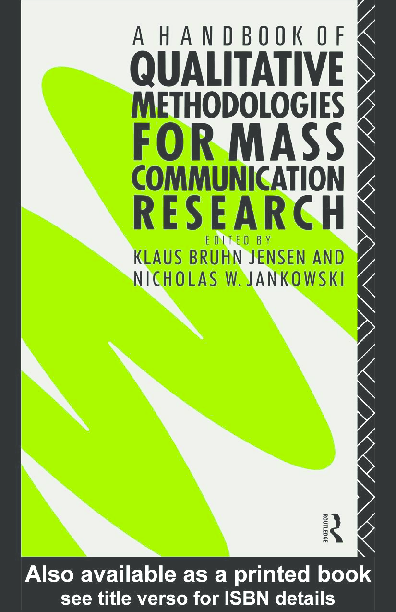 PDF) MASS COMMUNICATION Handbook ( Qualitative and