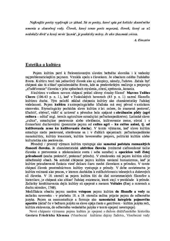 5c1a6fa3cd PDF) Estetika a kultúra