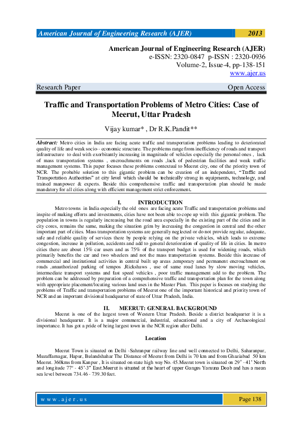 PDF) American journal of Engineering Research (AJER