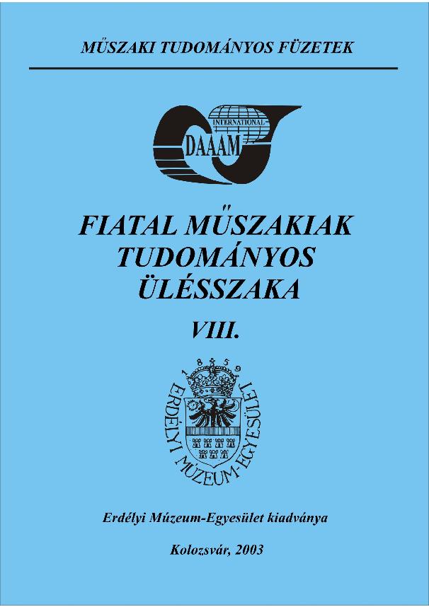 Műszaki Tudományos Füzetek - VIII. FMTÜ Nemzetközi Tudományos ... 65cbef26ef