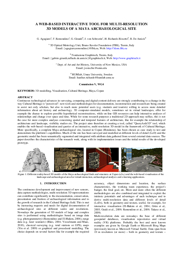 PDF) A WEB-BASED INTERACTIVE TOOL FOR MULTI-RESOLUTION 3D