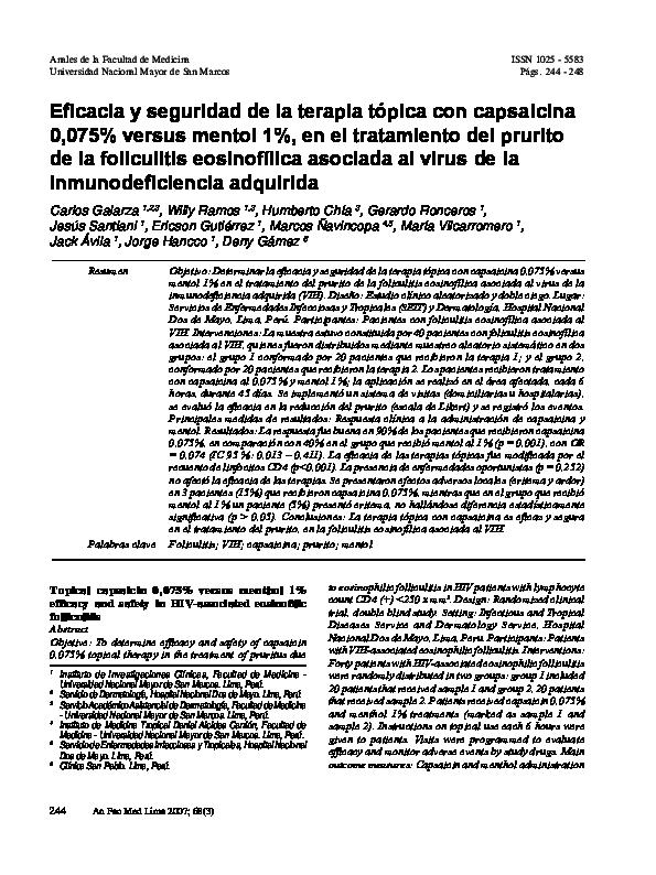 uso farmacológico de la capsaicina
