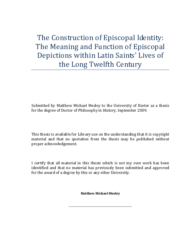 698414f1b6b02 PDF) The Construction of Episcopal Identity: The Meaning and ...
