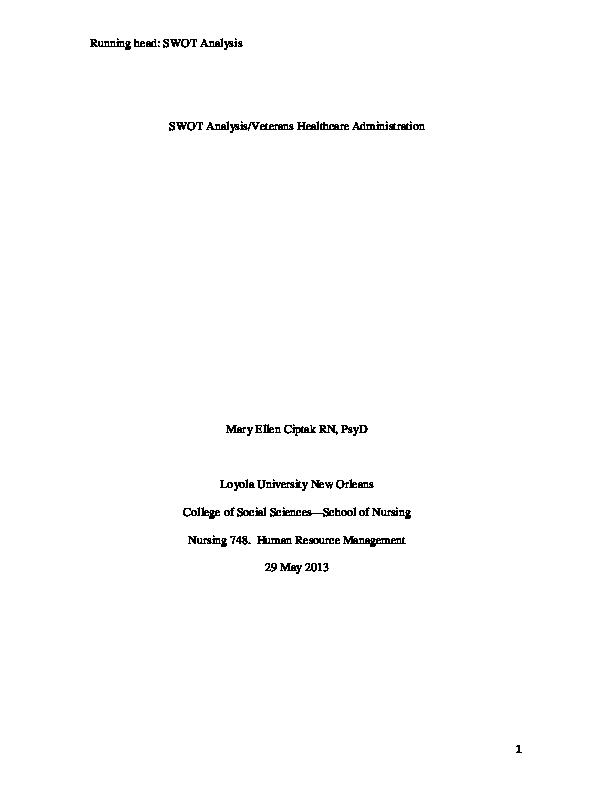 Science And Technology Essay Swot Analysis Hospital Va Mary Ellen Ciptak Academia Edu Essay On Business Management also English Language Essay Topics Swot Analysis Of Hospital Example Essays For High School Students