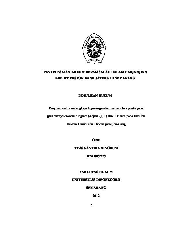 Pdf Skripsi Tyas Santika Ningrum B2a008228 Fh Undip Tyas