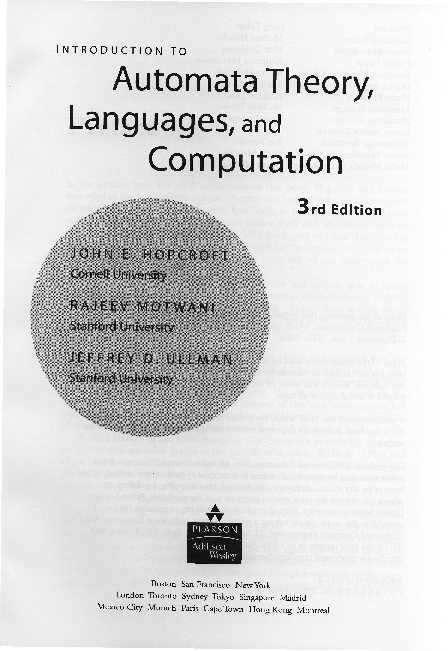 Introduction To Languages And The Theory Of Computation Pdf