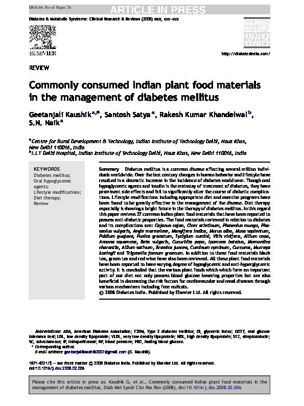 diabetes mellitus en india pdf