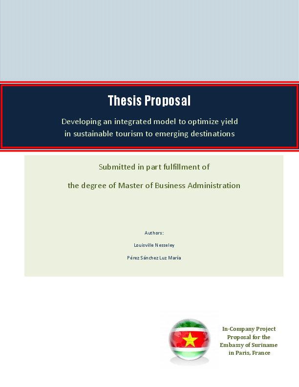 Master thesis on sustainability