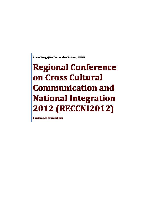 PDF) Conference Proceedings RECCNI2012 | Jowati Juhary