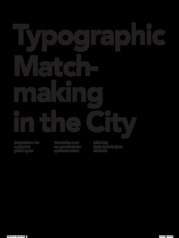 typografische matchmaking in de stad 50 tekenen je dating een gekke Chick