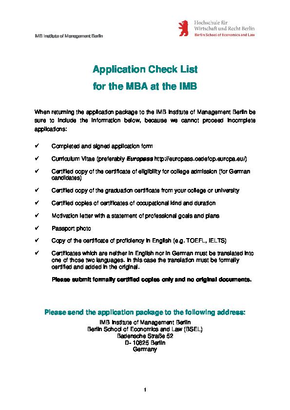 PDF) MBA Berlin Application Form 2013 | Alexander Telenkov
