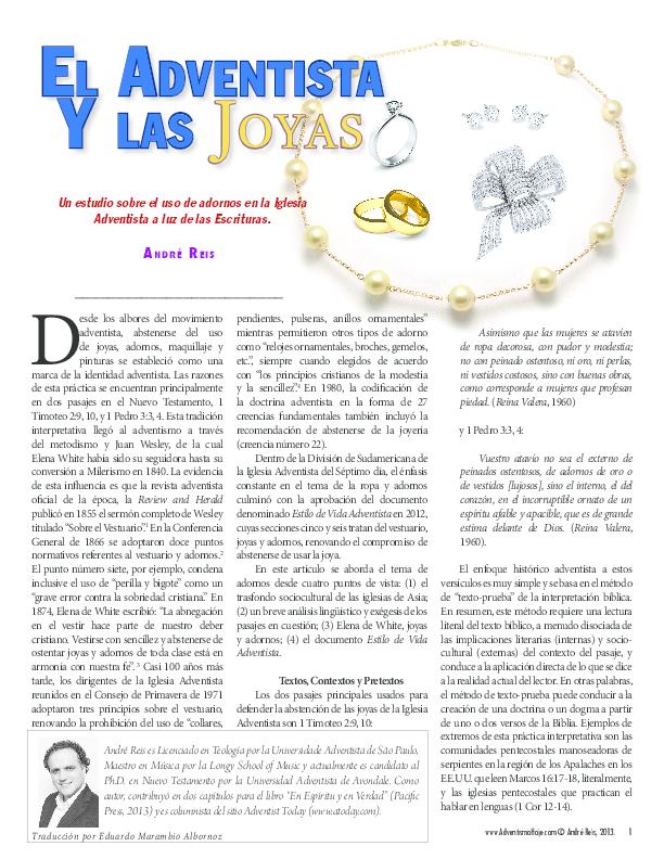 Pdf El Adventista Y Las Joyas Andre Reis Academia Edu